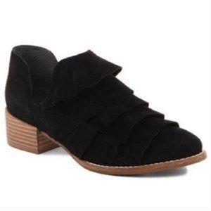 NWOT Seychelles Open Mind Ruffle Ankle Boot Suede